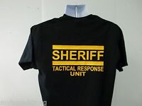 Sheriff Tactical Response Unit T-Shirt, Your Choice of Colors, Free Shipping