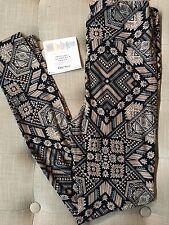 NWT LuLaRoe Leggings OS One Size Black Brown Tan Aztec Triangle Unicorn