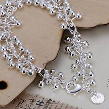 Bracelet Shiney Ball Bead Ladies 925 Sterling Silver Beautiful Women Gift Bag