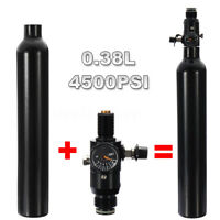 Paintball PCP Tank 4500psi 0.38L High Compressed Air Cyclinder Bottle Regulator