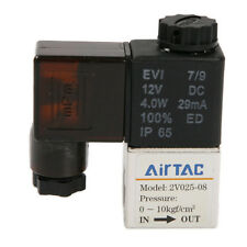 "PT 1/4"" DC 12V 2 way 2 position Pneumatic Electric Solenoid Valve Water Air Oil"