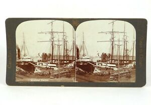 """Canadian Scenery Stereoview """"Montreal Harbor."""" Nerlich & Co ©1905"""