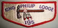 MERGED OA KING PHILIP LODGE 195 GREATER BOSTON 261 52 PATCH FF S1 1ST SOLID FLAP