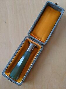 Antique/vintage wax seal stamp, in original box, agate handle, steel