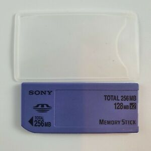 Genuine Sony 128MBx2 256MB Total Memory Stick MSA-128S2 Working + Sleeve