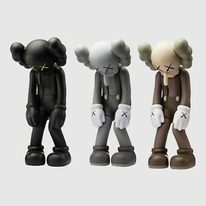 Authentic and Unopened Kaws Small Lie Set of all 3 Medicom Toy Vinyl Figures