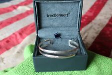 Fred Bennett Bangle Gents Sterling Silver Open Style Torque Bangle