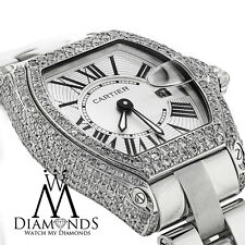 Ladies Cartier Roadster W62016V3 Stainless Watch Diamond Case with Box & Papers