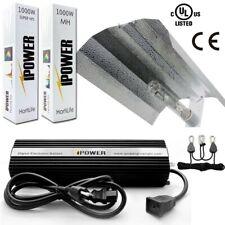 IPower 1000W HPS MH kits de sistema de luz de crecimiento Ala Reflector hoodset W. temporizador