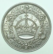 More details for rare 1929 george v wreath crown, british silver coin [only 4994 struck] au