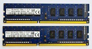 8GB (2x4GB) DDR3L 1600MHz Desktop PC RAM ~ PC3L-12800U 1Rx8 Memory 240 pin DIMM