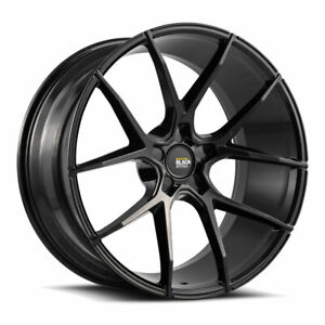 "19"" SAVINI BM14 BLACK CONCAVE WHEELS RIMS FITS BMW 528 530 535 545 550"