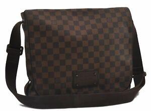 Authentic Louis Vuitton Damier Brooklyn MM Shoulder Bag N51211 LV C0779