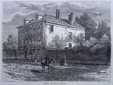 London PUTNEY - ESSEX HOUSE Original Victorian Print 1878