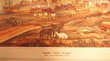 MILLERS POINT Sydney Harbor Flagstaff Hill Circa 1842 Vintage Australian Print