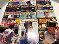 Baseball Cards Magazine Lot of 12 With Repli-Cards 1987-1992 Back Issues