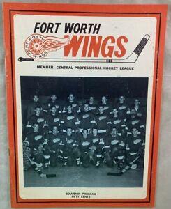 1967 Fort Worth Wings CHL Hockey Program vs Memphis South Stars