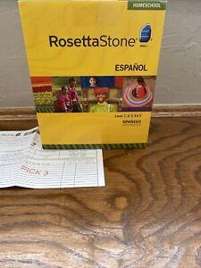 Rosetta Stone Spanish Homeschool Levels 1 2 3 4 5 NEW Latin America