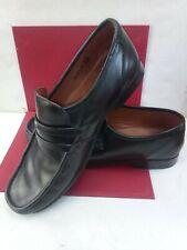 Men's George Slip On Leather Shoes. Moccasin Black Size 11 VGC.