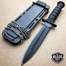 "6"" Black Tactical Kabai Dagger Hunting Neck Knife Survival Fixed Blade Combat"