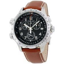 Hamilton Black Dial Brown Leather Strap Men's Watch H77912535