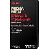 90ct GNC Mega Men Energy & Metabolism Vitamins Dietary Supplements Caplets New