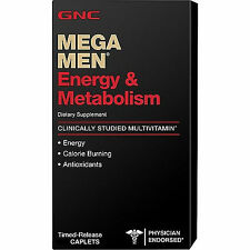 90ct GNC Mega Men Energy & Metabolism Vitamins Dietary Supplements Caplets New