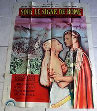 AFFICHE CINEMA ORIGINALE « SOUS LE SIGNE DE ROME » Dimensions 120 x 160 Traces d
