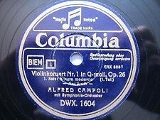 3x 78rpm ALFRED CAMPOLI Violin BRUCH Concerto - GERMAN COLUMBIA