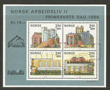 Norway 1986 Stamp Day/Paper Industry semipostal ss--Attractive Topical (B69) MNH