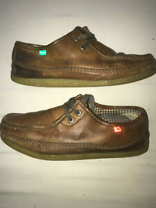 Kickers vintage mens brown loafers size 42