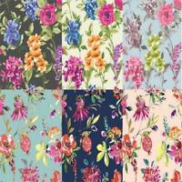 Holden Decor Floral 10m Wallpaper Black Navy Teal Pink Available