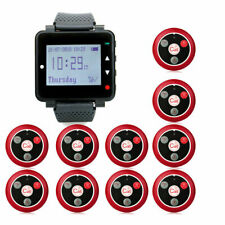 T128 Restaurant Pager Calling System Watch10call Button For Cafe Fast Food Bar