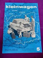 Kleinwagen 5/59 BMW Isetta 250 Abarth Berkeley Alligator Amphibie Zuladung TOP