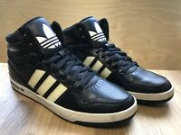 2013 Adidas Hi Top Court Attitude Men's Trainers Shoes UK 11 EUR 46 Black Cream
