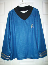 Star Trek SPOCK Blue L/S Rubie's Halloween Costume Shirt-Adult One Size L XL-EUC