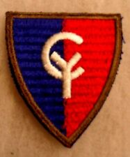 WWII HORIZONTAL RIBBED 38TH INFANTRY DIVISION PATCH WHITE BACK NO GLOW CUT EDGE