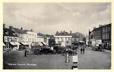 Wantage, Market Square, Old Cars, Voitures, double-decker bus