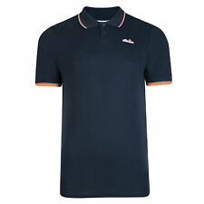 New Mens Ellesse Polo Shirt T-Shirt - Navy Blue Grey White Black Retro Vintage