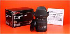 Sigma DC 17-70mm F2.8-4.5 Macro Zoom Lente Canon + tapas delanteras y traseras, Capucha Y Caja