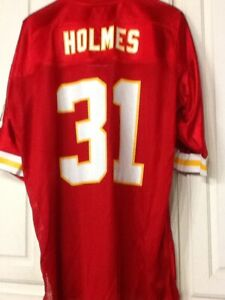 NFL Priest Holmes #31 Kansas City Chiefs Reebok RBK NFL Jersey Red XL