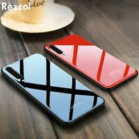 For Samsung S20 Ultra A51 A71 A40 A20S A10 New Fashion Tempered Glass Phone Case