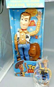 TALKING WOODY 1995 Toy Story DISNEY PIXAR Original Pull-String Thinkway NIB