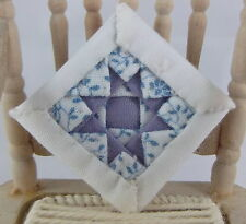 Dolls House Miniature Shabby Chic Accessory Alice Lacy Quilted Cushion 20HB
