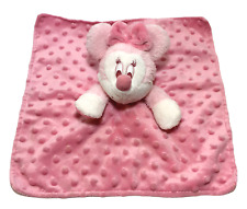 Disney Gund My First Minnie Pink Security Blanket Plush Mouse Rattle Minky Dots