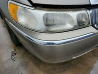 1998-1999-2000-2001-2002 LINCOLN TOWN CAR RIGHT FRONT BUMPER CHROME MOLDING
