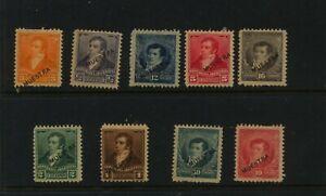 Argentina  lot of  specimen  stamps  mint  hinged     MS0531