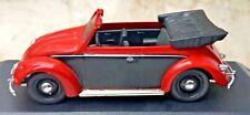 VW Käfer Cabriolet offen rot/schwarz - Volkswagen -1949 - Vitesse 410 - 1:43