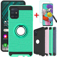 For Samsung Galaxy A21 A51 A71 4G Case Ring Stand Hard Cover Screen Protector