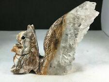 New ListingNatural crystal cluster mineral specimen, hand-carved by squirrel healing 141g